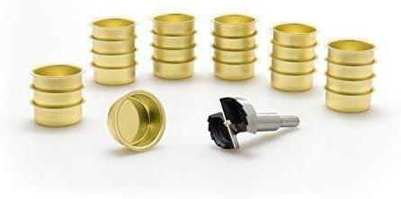 41,5 mm - 10 Stck Wei/ßblech A.J Metallwaren GmbH Photophore Douille 40 mm et Un Foret M/èche Forstner Dents 1 5//8 Wwe