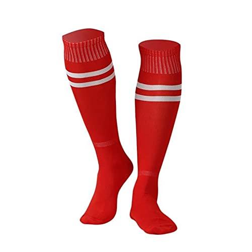 ZHOUSAN 1 par de polainas de rodilla unisex medias de fútbol calcetines deportivos sobre la rodilla solo calcetín correr para béisbol fútbol hombres mujeres calcetines