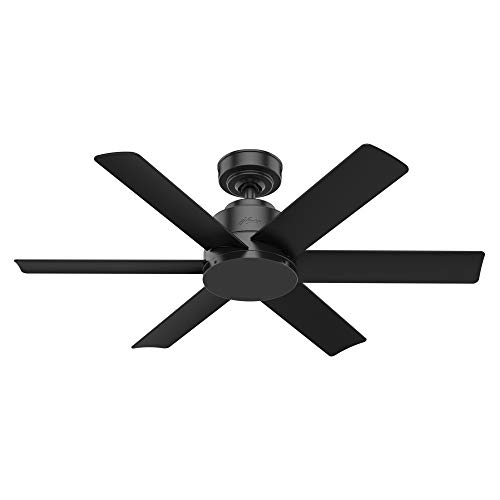 Hunter 59613 Kennicott Indoor, Outdoor Ceiling Fan with Wall Control, 44, Matte Black