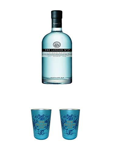 The London No. 1 Gin 1,0 Liter Magnum + Von Hallers Gin Becher EDITION GÖTTINGEN aus Kristallglas 1 Stück + Von Hallers Gin Becher EDITION GÖTTINGEN aus Kristallglas 1 Stück