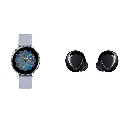 Samsung Galaxy Watch Active2 Explorer Edition, Fitnesstracker aus Aluminium, großes Display, ausdauernder Akku, wassergeschützt + kabellose In-Ear Kopfhörer mit Zwei-Wege-Lautsprechersystem