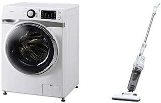 【セット販売】アイリスオーヤマ ドラム式洗濯機 7.5kg 温水洗浄機能付き 左開き 幅595mm 奥行672mm 2019年モデル HD71 & 極細 軽量 掃除機 2WAY サイクロン スティック クリーナー シルバー PIC-S2-S セット