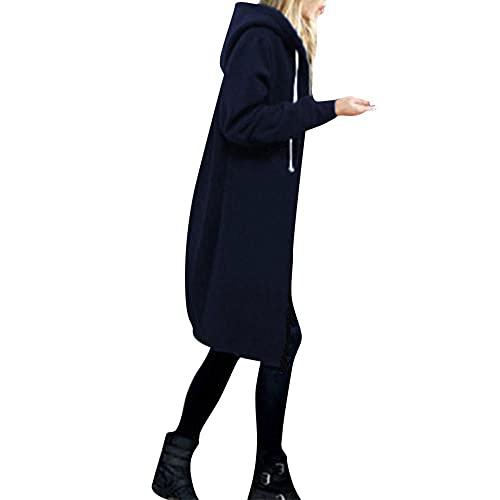 Darringls Softshelljacke Damen Mode Übergangsjacke Stoffjacke Winter Casual Kapuzenjacken Outdoorjacken Reißverschluss Sweatshirt Hoodie mit Kordelzug Langarm Mantel