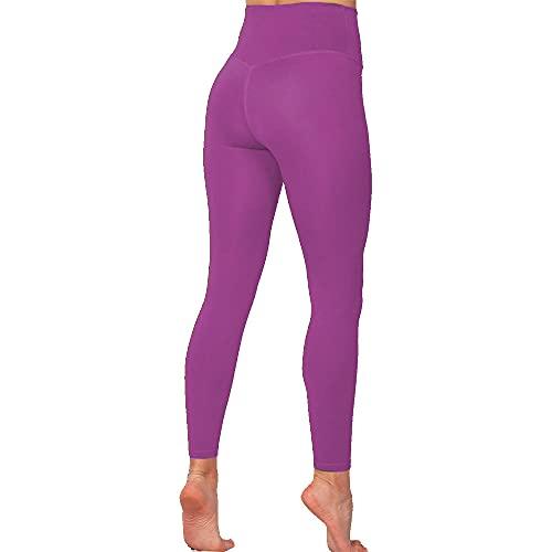XUNHOU Leggings de Yoga de Control de Abdomen,Pantalones de Yoga con Bolsillo de Cintura Alta,Medias de Secado rápido sin Costuras-Purple_M,Polainas de Yoga Ropa de Gimnasia
