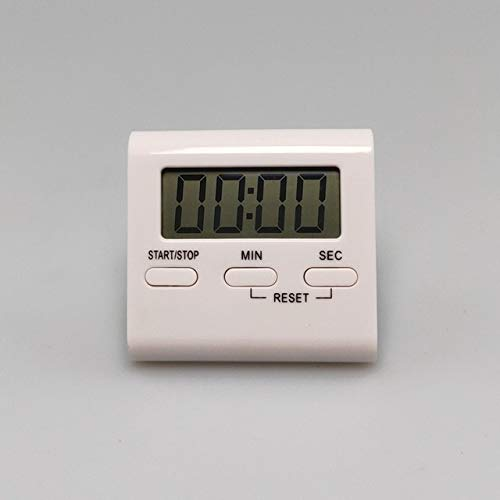 LCD-Digital-Küche Kochen Timer Count-Down Up Wecker Magnetic Erinnerung (Color : White)