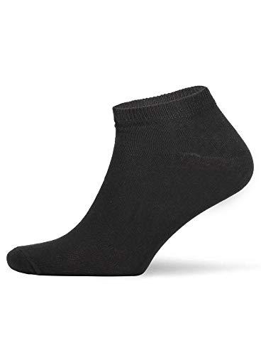 Smith und Solo 10 Paar Sneaker Socken Baumwolle Sportsocken Kurze Halbsocken Herren | Damen | Unisex schwarz weiß blau grau OEKO-TEX Standard 100