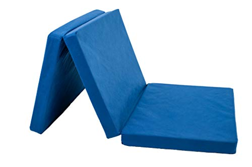 Altabebe AL5000 - Colchón para cuna de viaje, Azul marino, 120 x 60 x 4.5 cm