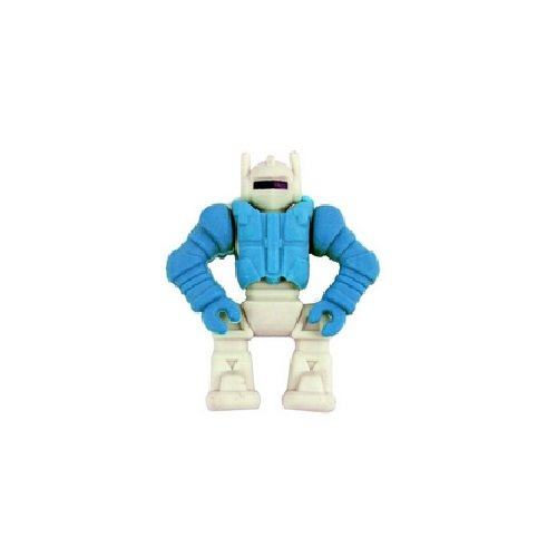 Robot - Shaped 3D Buildable Novelty Rubber / Eraser (One Supplied) by Henbrant