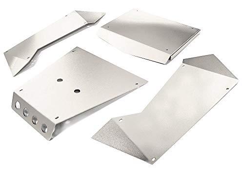 Integy RC Model Hop-ups C27004SILVER Aluminum Alloy Panel Kit for Axial 1/8 Yeti XL Rock Racer Buggy