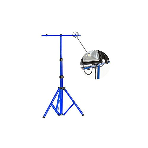 Preisvergleich Produktbild MCTECH® Teleskop Stativ Flutlicht Ständer Strahler Stahlstativ für Baustrahler LED Fluter Arbeitslampe (blau Teleskop-Stativ)