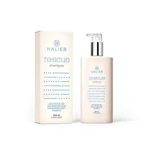 HALIER Rescue Shampoo für Trockenes Strapaziertes Haar, Feuchtigkeit Haarshampoo, Gegen Wasserverlust und Spliss, Stärkend, Regenerierend Haare, Intensive Haarpflege für Frauen und Männer, 250 ml