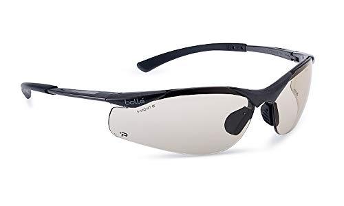 Bolle CONTOUR PSSCONT-C10 - Gafas de seguridad con lentes transparentes resistentes al estrés, niebla, rayos UVA y UVB