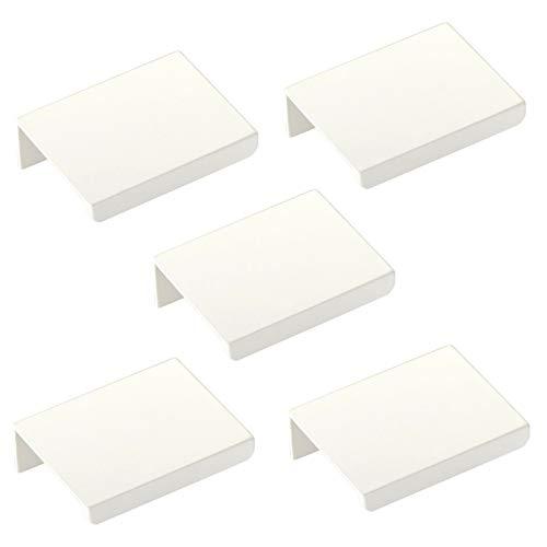 5er Set Möbelgriffe Blankett Jane 50 mm weiß Schrankgriffe Hinterschraubgriffe Schubladengriffe von Sotech