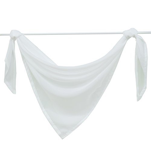 Joyswahl Querbehang Voile Triangle Schals Emma Deko Transparente Gardinen LxB 200x100cm Weiß 1er Pack