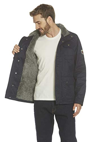 Gerry Mens Sherpa Lined Barn Jacket, Everyday Packable Hood Lined Sherpa Coat, Winter Work Warm Jackets for Men (Nocturne, Medium)
