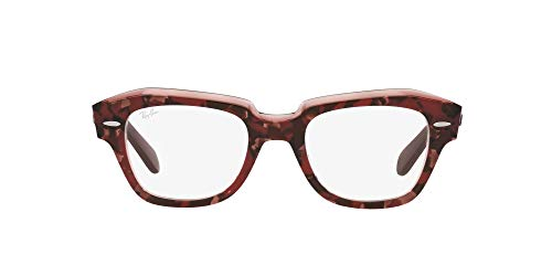 Ray-Ban 0RX5486 Gafas, HAVANA ON TRANSPARENT PURPLE, 48 Unisex Adulto