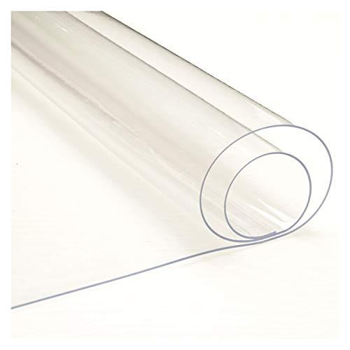 AWSAD Mantel Transparente, Antideslizante e Impermeable, para Escritorio, Mesa De Comedor, Escritorio De Computadora, Mesa Mantel Transparente Protector (Color : Clear-2mm, Size : 80x140cm)