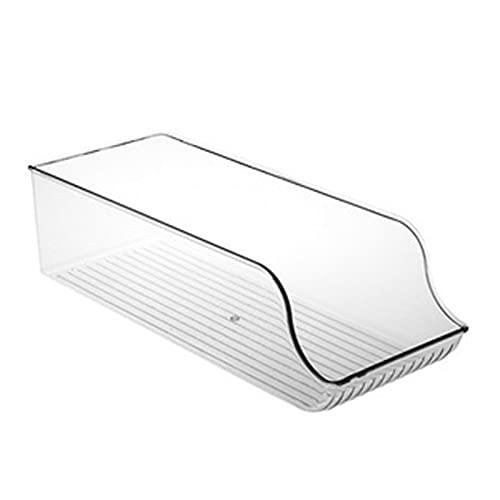 LiChaoWen Almacenamiento De Cocina Frigorífico Organizador Refrigerador Organizador Bins Gabinete Organizadores (Color : Clear, Size : 35x13.8x9.8cm)