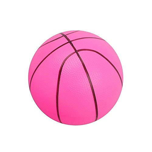 Ogquaton Weichschaumball Mini Basketball Kind Früherziehung Ball Runde PVC Spielzeug für Kinder Oder Anfänger Spielen Rosa