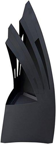 """dobar 35432 Gartenofen, Großer Design Gartenkamin""""Sydney"""", Terrassenofen aus Metall Stahl, 48 x 41 x 110 cm, schwarz"""