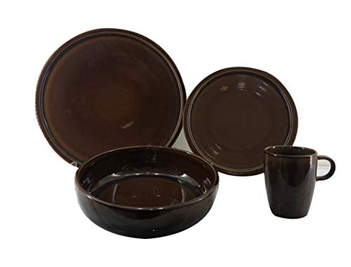 PROEPTA Set de Vajilla de 16 Piezas Café Honey Ease