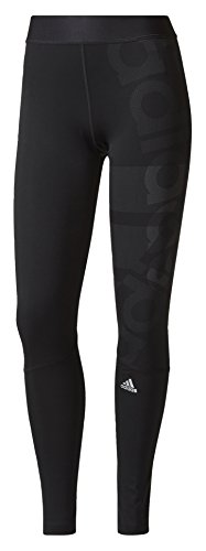 adidas Damen Techfit Long Logo Tights, Black, XL