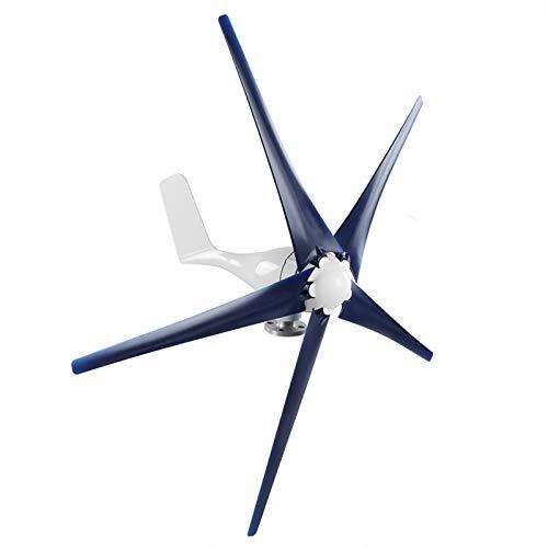 Kit generatore di turbine eoliche, kit generatore eolico Generatore di turbine eoliche 800w con 5 pale per nautica, camper, casa, vestito generatore di mulino a vento(blue, 24V)