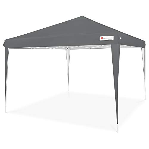 Best Choice Products 10x10ft Outdoor Portable Lightweight Folding Instant Pop Up Gazebo Canopy Shade Tent w/Adjustable Height, Wind Vent, Carrying Bag - Dark Gray