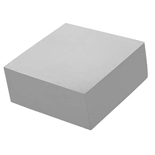 IPOTCH Acero Sólido Joyero Banco Bloque Dapping Doming Hammering Plateros Yunque - Plata, 73x73x30mm