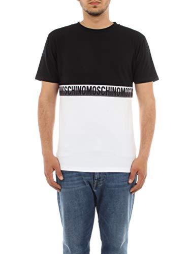 Moschino Underwear A 1909 8121 - Camiseta de manga corta para hombre, color negro, talla S
