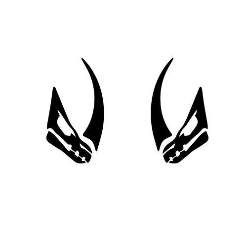 Mando Bounty Hunter Mandalorian Logo Mudhorn Mud horn Bounty Hunter Signet Black bumper sticker decal set