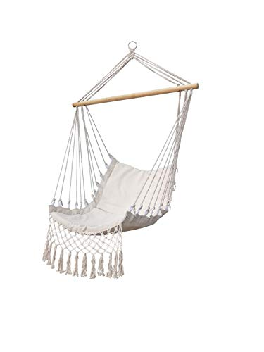 SIDAVILMAR 001 Cotton Hammock Hammock Chair Stands Hanging Hammock Stands Hanging Hammock Air Porch Swing Chair Indoor can Holding Capacity 260Lbs for 1PC/CTN