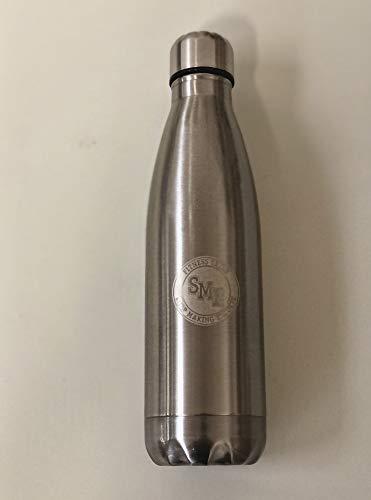borraccia termica italiana S.M.E. Marca Italiana | Borraccia Termica in ACCIAO 500ml Bottiglia Doppia Parete Caldo Freddo. (Argento)