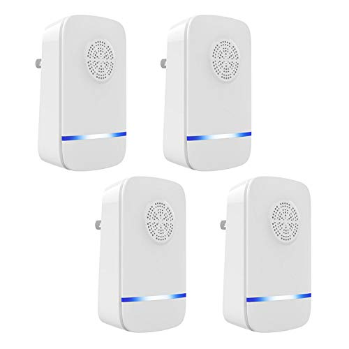 4pcs Electrónica Ultrasonic Pest Control Repeller Plug in Insect Repellent for Mouse Mosquito Cockroach Cricket Bugs EU Plug