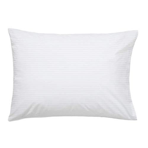 Brooklinen Smoke Stripe Luxe Pillowcases - Set of 2 - 100% Long Staple Cotton with Envelope Closure...