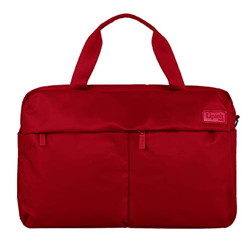 Lipault - City Plume 24H Bag - Top Handle Shoulder Overnight Travel Weekender Duffel Luggage for Women - Cherry Red