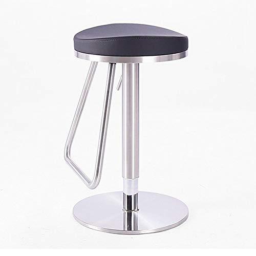 Sgabello da Bar Sgabelli da Bar Sgabello da bar in acciaio inossidabile Altezza seduta regolabile Rotabile con poggiapiedi Può essere utilizzato nella camera da letto del salotto del ristorante-caffet