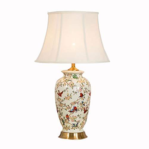Oosterse tafellamp van keramiek, E27, voor woonkamer en slaapkamer, mandarijnstijl
