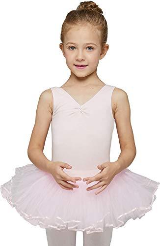 MdnMd Pink Leotard Tutu for Girls Toddler Ballet Dance Outfit Dress Costume (Ballet Pink, Age 4-6 / 4t,5t)