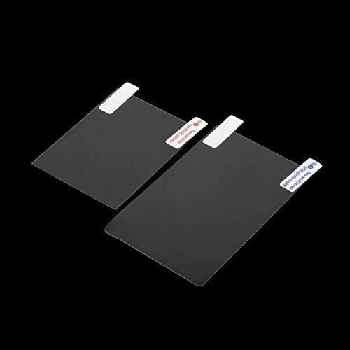 Kurphy Autoadhesivo Lavable y Reutilizable Superior Inferior Transparente Pantalla LCD Cristal Protector de la Cubierta de la Caja para nintend para 3ds XL
