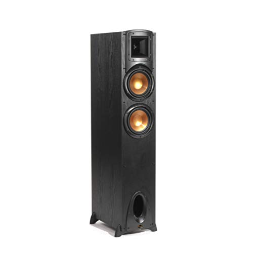"""Klipsch Synergy Black Label F-200 Floorstanding Speaker with Proprietary Horn Technology, Dual 6.5"""" High-Output Woofers, with Room-Filling Sound in Black"""