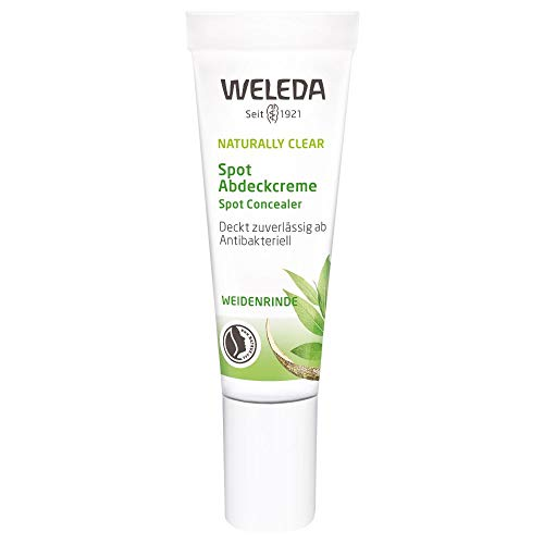 WELEDA Naturally Clear Spot Abdeckcreme, Naturkosmetik Abdeckstift bei Pickeln und Rötungen, antibakteriell, kaschiert Hautunreinheiten (1 x 10 ml)
