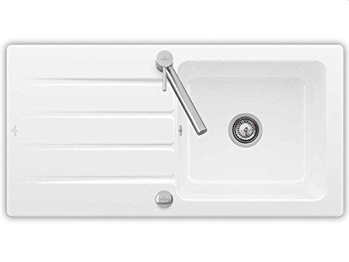 Villeroy & Boch Architectura 60-336002R1 Weiß(alpin) Einbau-Keramikspüle Küche