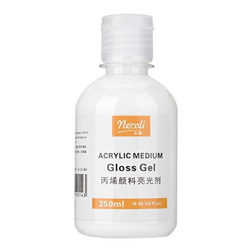 Smalto per vernice acrilica, gel acrilico medio lucido che aumenta il colore degli accessori artistici per Creazione di effetti acquerello con smalto sottile(250ml, Animal)