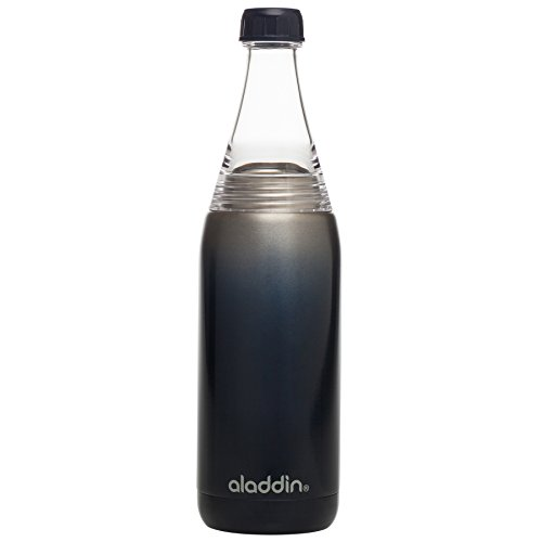 Aladdin Fresco Twist & Go Water Bottle, 20oz, Stainless Steel & Tritan, Vacuum Insulated, Sapphire