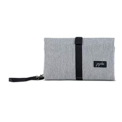 JuJuBe Portable Baby Changing Pad | On The Go | All-in-1 Foldable Diaper Changing Station, Stain Resistant, Lightweight Travel Mat Station, Machine Washable | Glacier Gray