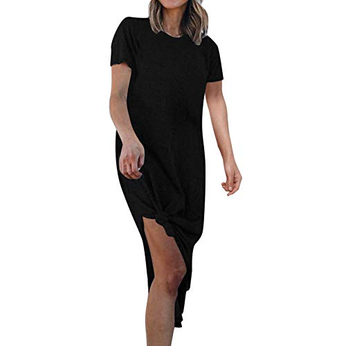 Qigxihkh Damenmode Frühling und Sommer New Loose Casual Split Home Holiday Kleid