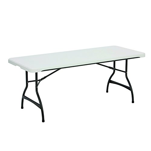 Lifetime 80306 Commercial Stackable Folding Table, 6', White