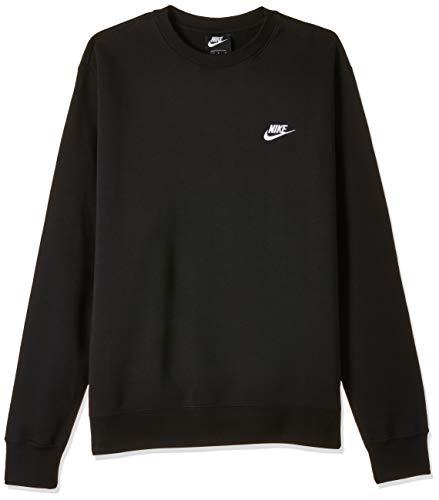 Nike Sportswear Club, Maglia A Girocollo Uomo, Black/White, L