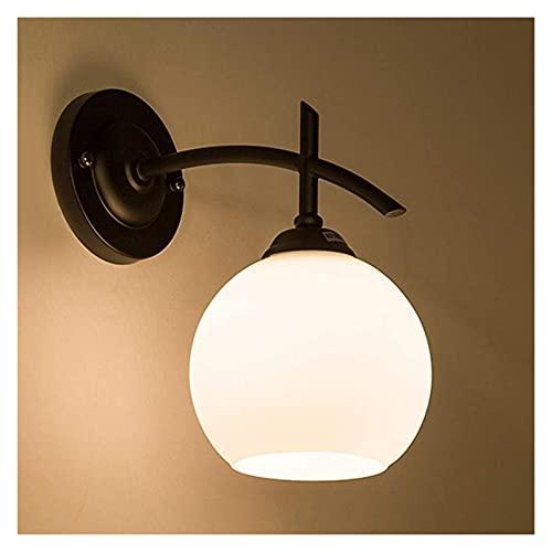 MUBAY Creativo Lámpara de Pared Interior Moderno Lámpara de Pared de Dormitorio Creativo Americana Minimalista Sala de Estar Comedor Sala de Hierro Forjado Luz de escono